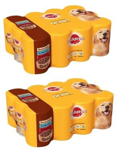 Pedigree Tins Mixed Chunks in Gravy 24 x 400g