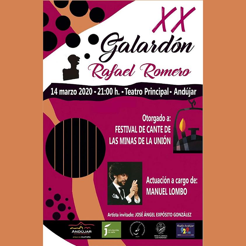 XX Galardón Rafael Romero