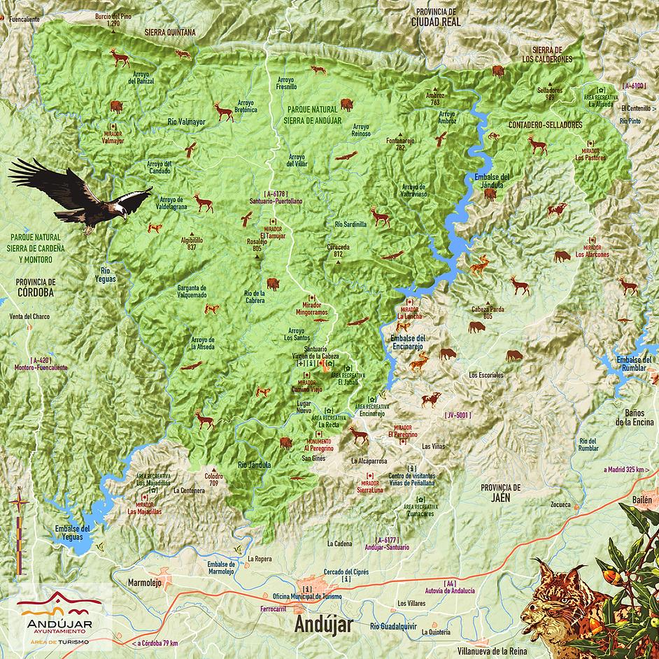 Plano Parque Natural Sierra Andujar
