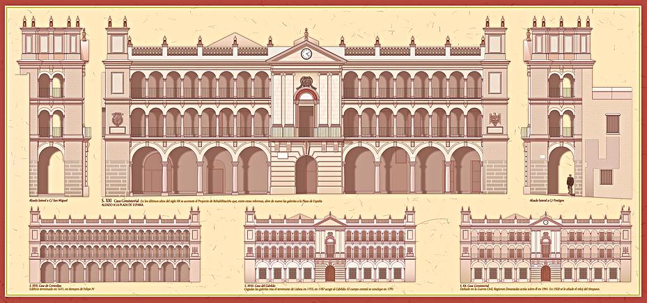 Ayuntamiento Andujar dibujo alzado fachada