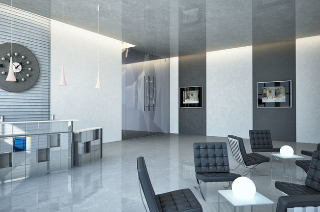 For very attractive reception areas
