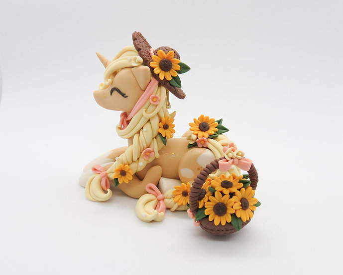 Sunflower Unicorn with Lil Hat