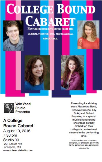College Bound Cabaret!