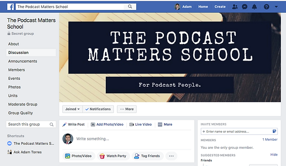 The podcast matters FB group.png