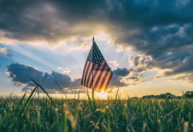 sunset-beyond-the-american-flag-celebrat