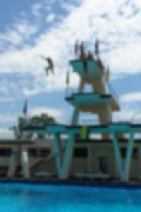 A famosa torre de salto da AMAN.