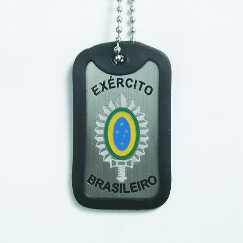 Dog Tag Inox (Plaqueta de Identificação) - Exército Brasileiro