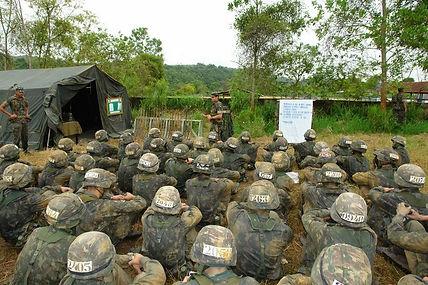 O ritmo de instruções militares na EsSA é bastante intenso.