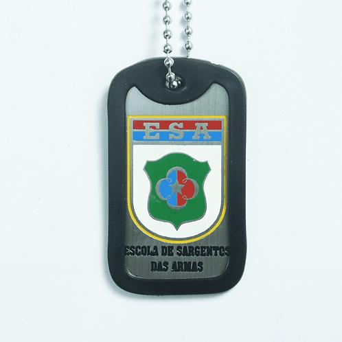 Dog Tag Inox (Plaqueta de Identificação) - Escola de Sargentos das Armas