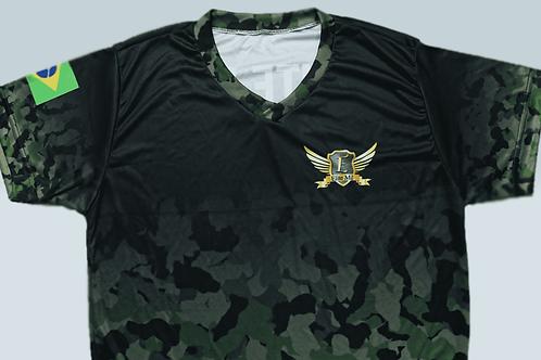 Camisa Elite Mil Dry Fit - Camuflagem Verde (modelo 1)