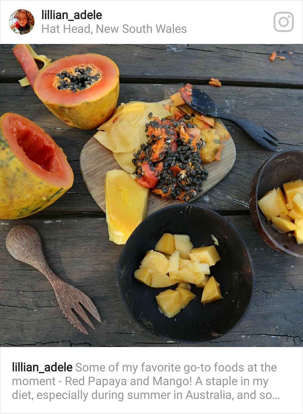 Fresh Papaya and Mango