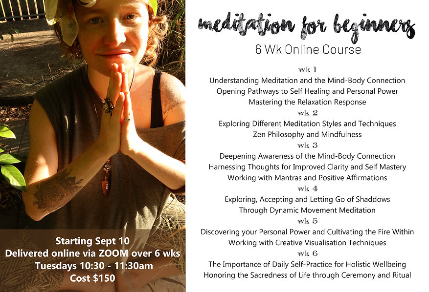 6 Wk Beginners Meditation Course with Li