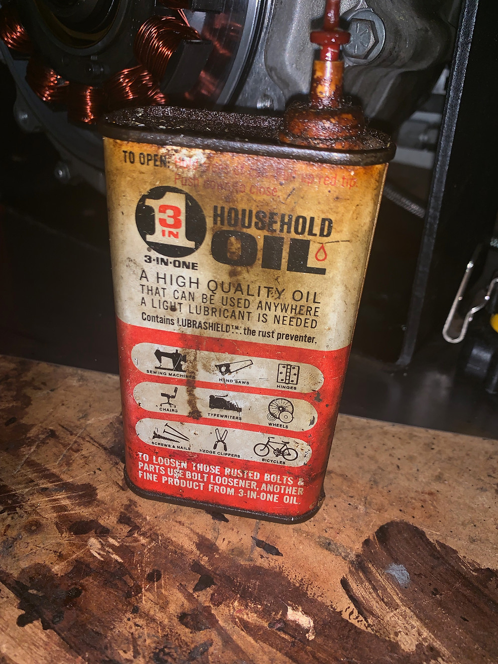 three in one household oil - vintage oil can