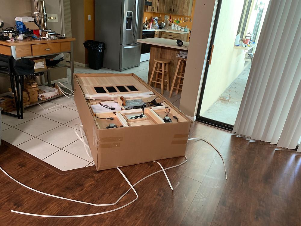 DYNAMIC SAUNAS AMZ-DYN-6106-01 Barcelona 1-2 Person Far Infrared Sauna - unpacking