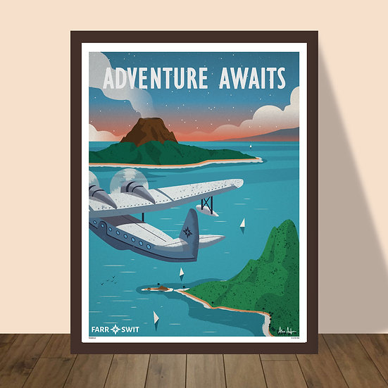"""Adventure Awaits"" Print by Alex Asfour"