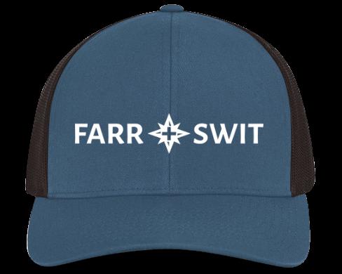 Blue/Blk Farr + Swit Logo Mesh Snapback
