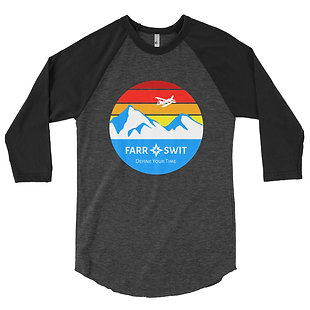 """Seaplane Evening - """"El Pres"""" Baseball Shirt Dark Variant"""