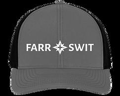 Grey/ Blk Farr + Swit Logo Mesh Snapback