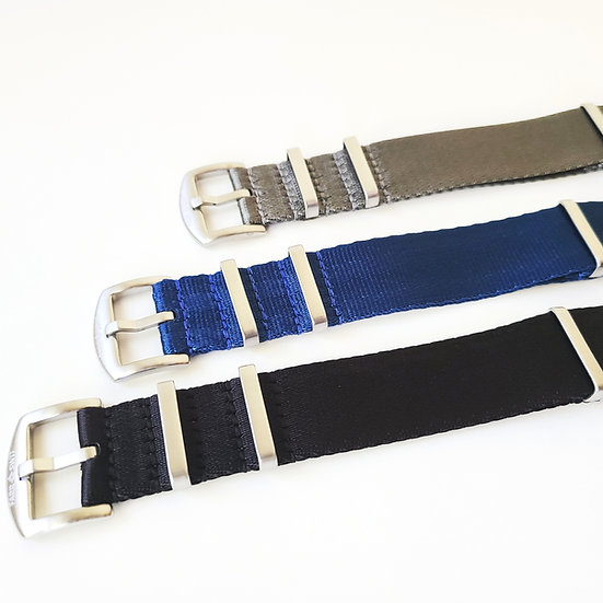 "Nato Style ""Seat Belt"" Watch Strap - 3 Colors"