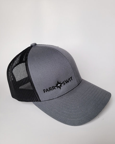 Mini Farr + Swit Logo Grey/Black - Mesh Snapback