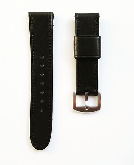Black Dublin Horween Leather Strap Quick Release