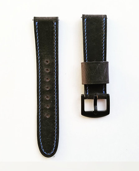 Grey Crazy Horse Leather Strap -  Quick Release