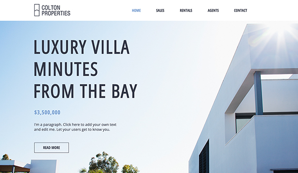 Real Estate Website Templates Business Wix - Luxury estate planning templates design