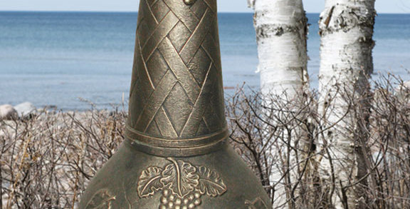 Chiminea Large Cast Iron Grape Design