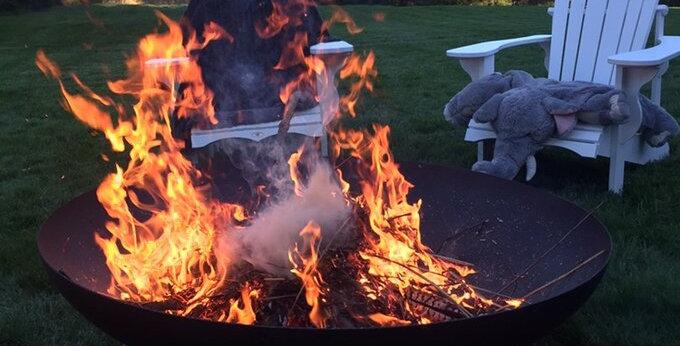 Fire Pit Sleek Modern