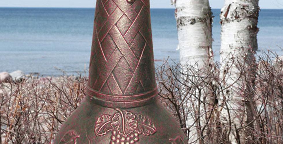 Chiminea Large Cast Aluminum Grape Design