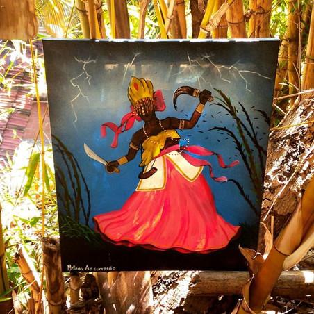 #FundoNAMI 2017: Pintura de telas da Myllena