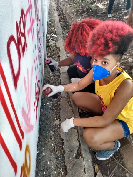 Projeto #Afrografiteiras + Open Studio Panmela Castro