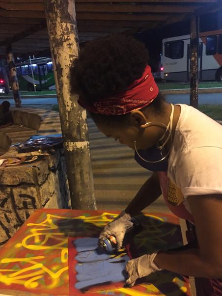 #FundoNAMI 2018: Oficina de Stencil em Nova Iguaçu