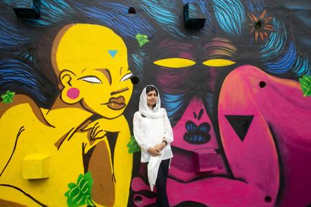 Malala Comemora Seu Aniversário em Visita à Rede NAMI