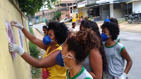 #FundoNAMI 2017: Oficina de Stencil na E.M Profª Etiene de Souza Oliveira