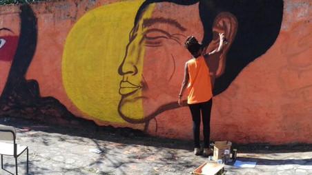#FundoNAMI 2017: Grafitagem na E.M. Paraguai