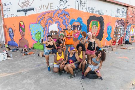 #FundoNAMI 2018: Grafitagem na Arena Carioca Jovelina Pérola Negra