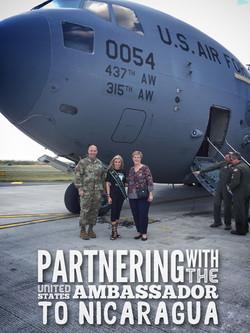 Amanda Sowards with US Ambassador