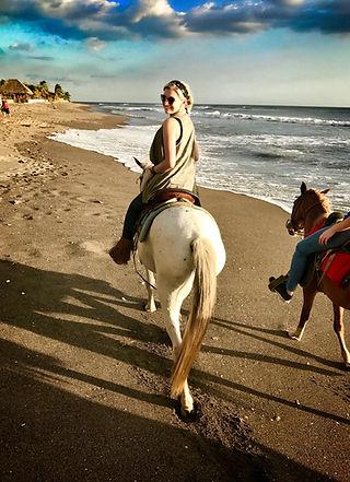 Horseback riding in Nicaragua on Beach