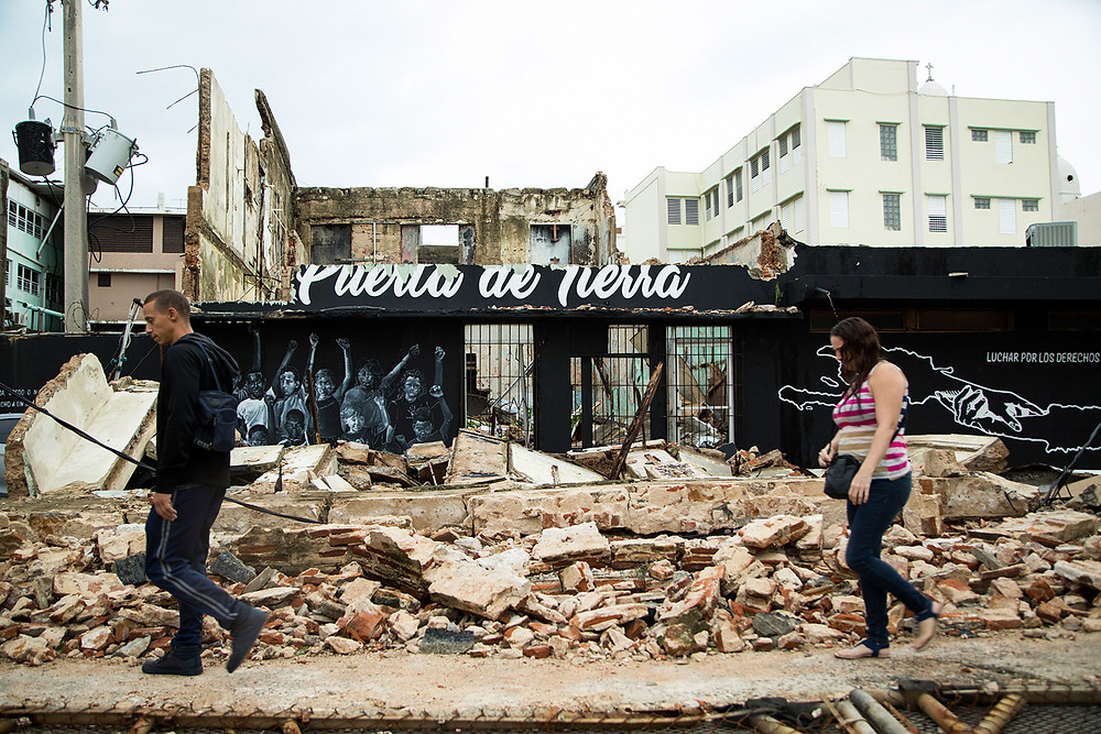 Hurricane Maria's destruction cost of damages Puerto Rico
