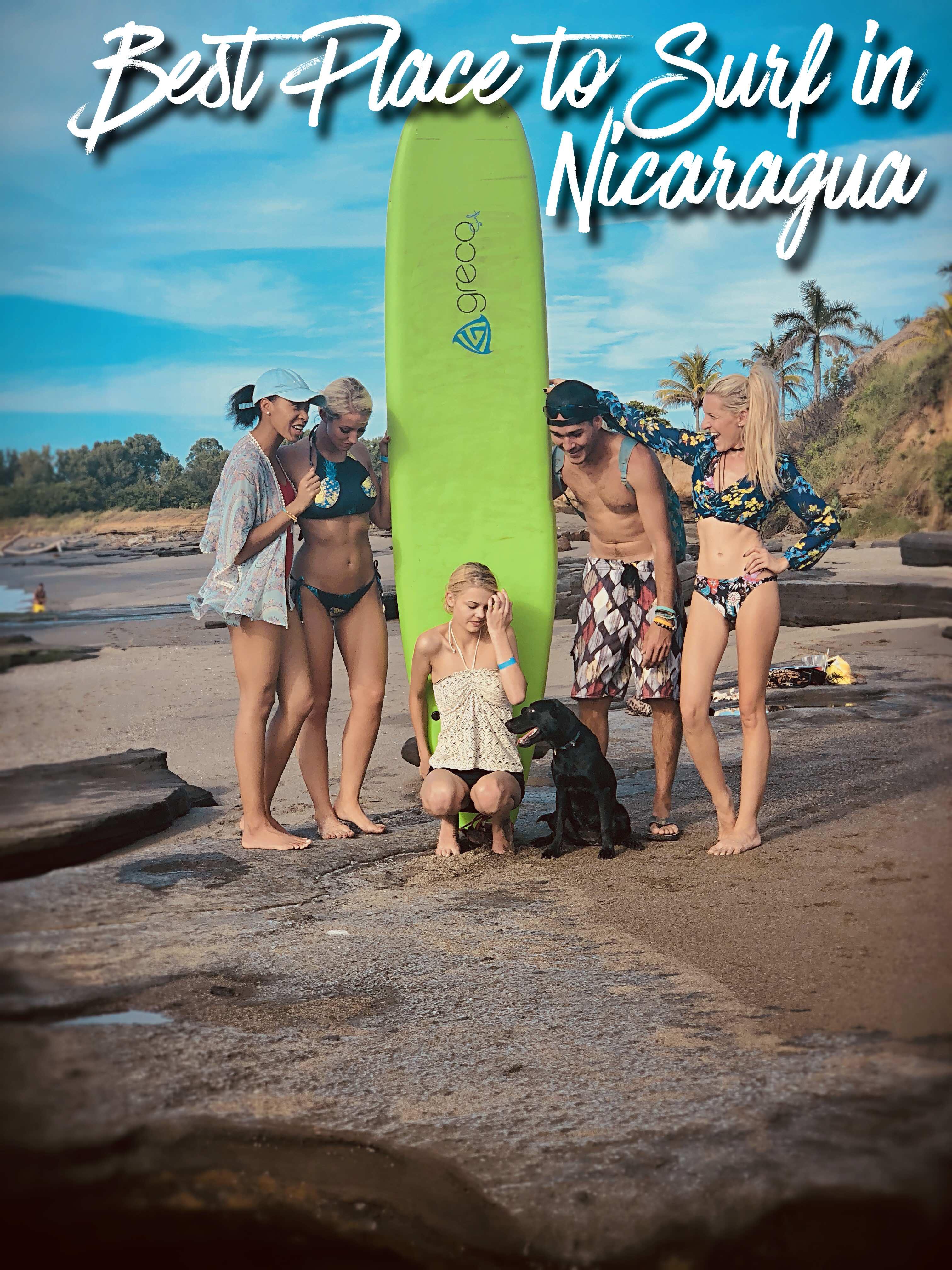 Amanda Sowards Surfing Nicaragua