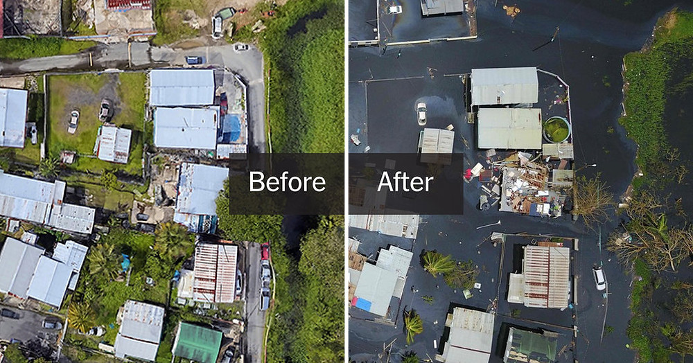 Puerto Rico Before and After hurricane Maria