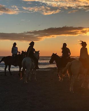 Group Horseback riding in Nicaragua