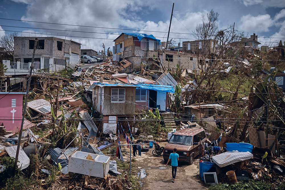 Hurricane Maria devistation in Puerto Rico