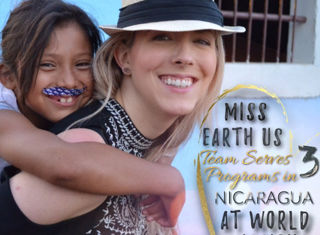 Miss Earth US Team Serves over 800 Meals in Nicaragua