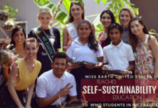 Miss Earth United States Teaches Self Sustainability