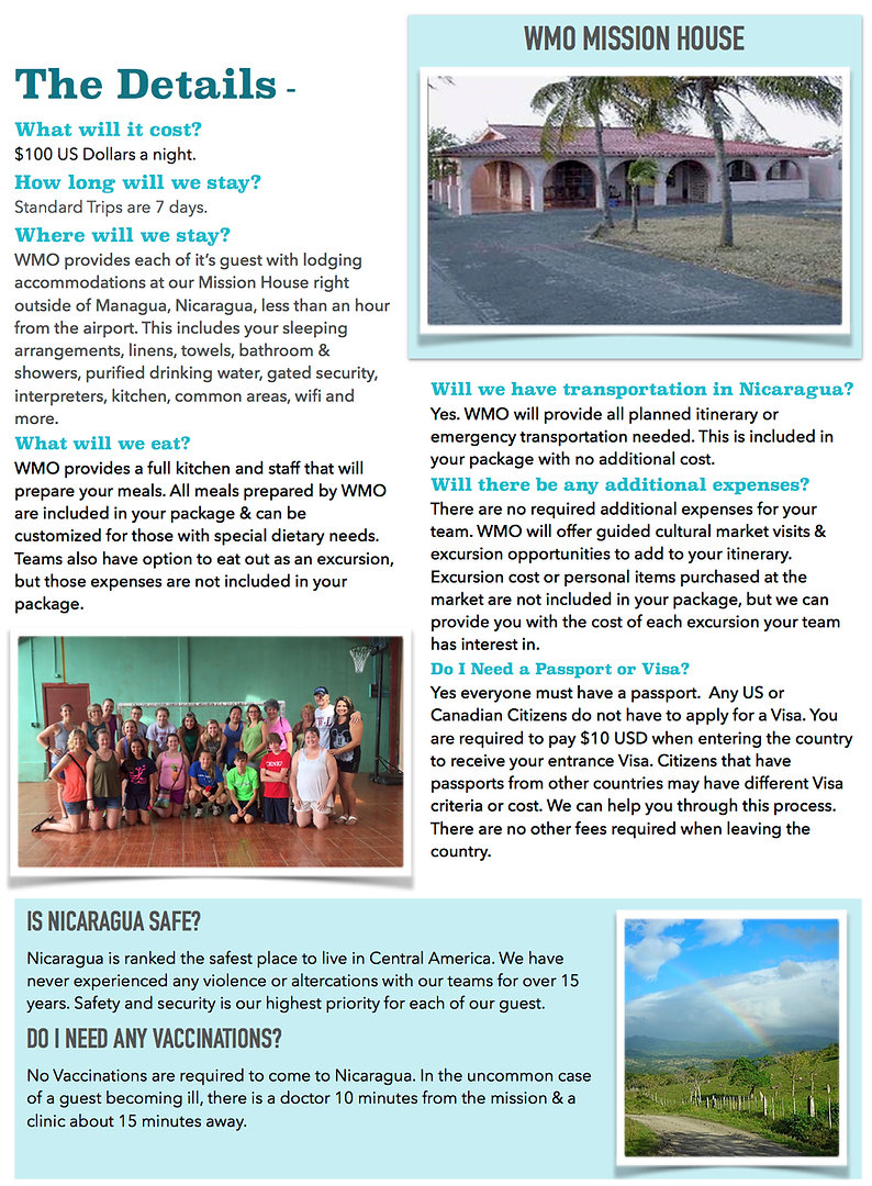 Plan a Mission Trip to Nicaragua