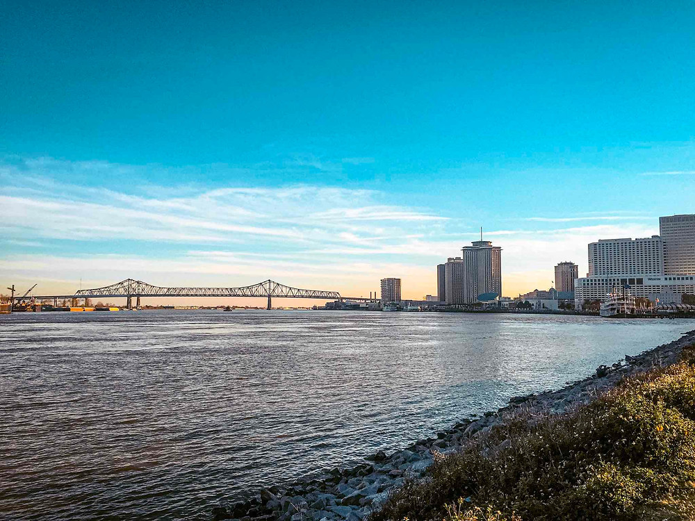 Mississippi River Walk New Orleans Downtown
