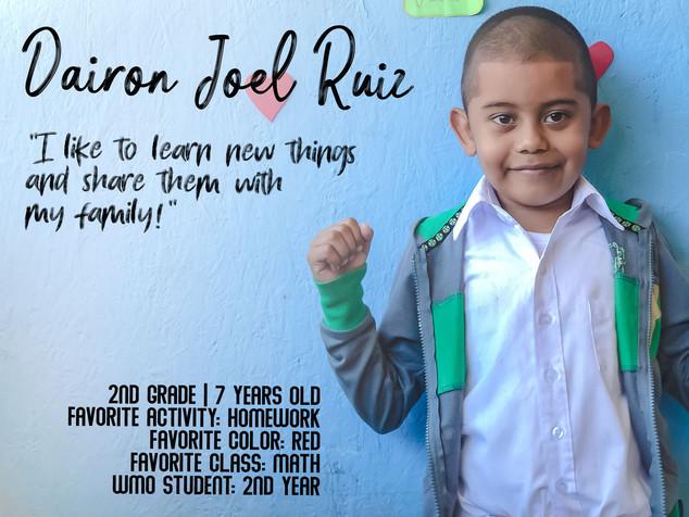 DAIRON JOEL RUIZ CABRERA