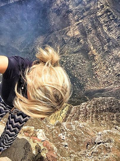 Overlook at Masay Volcano Nicaragua